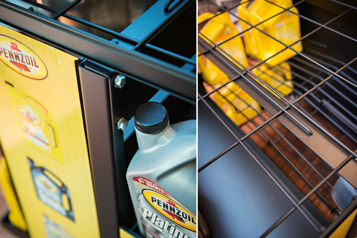 Metal Displays for Pennzoil