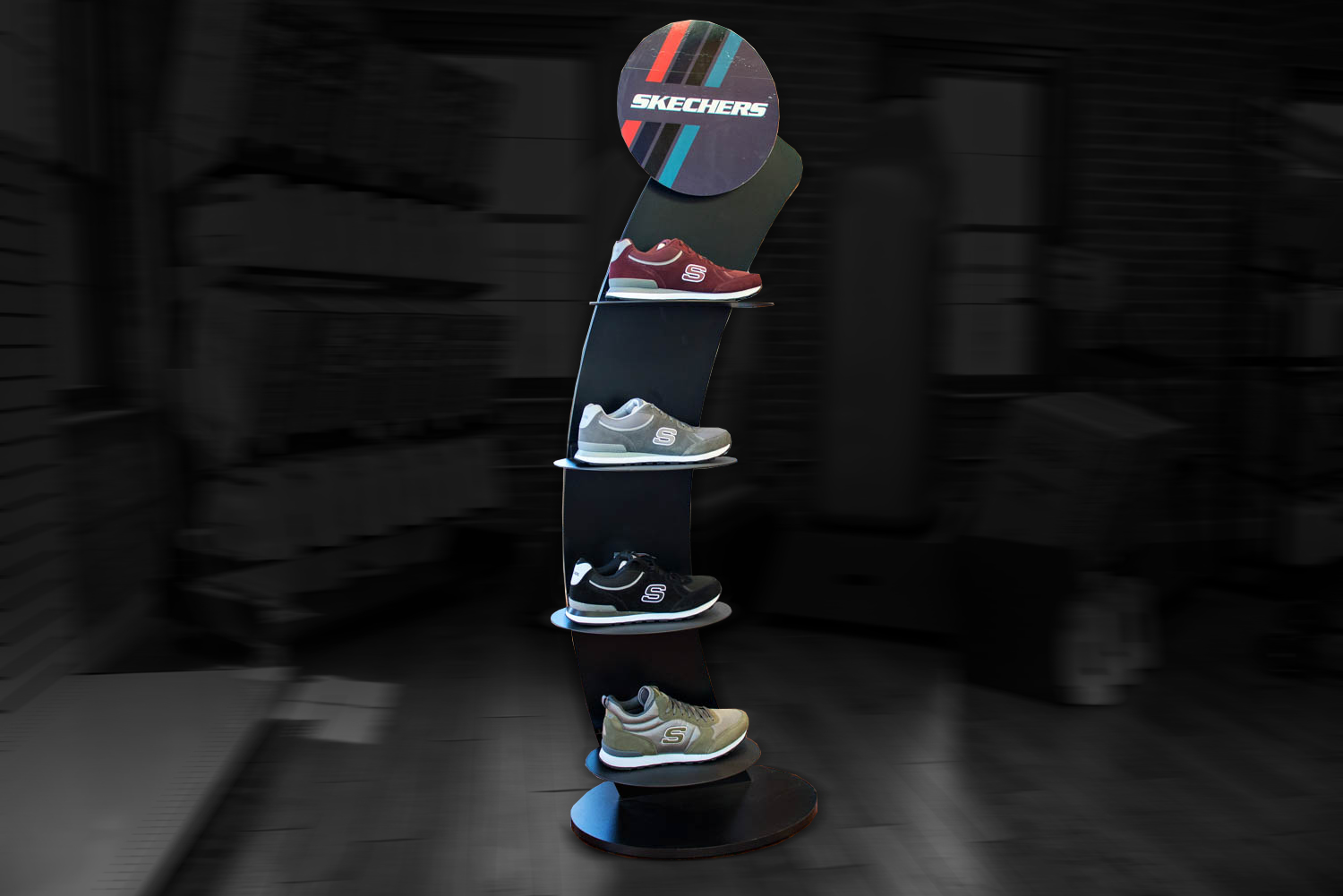 metaline-skechers point of purchase display