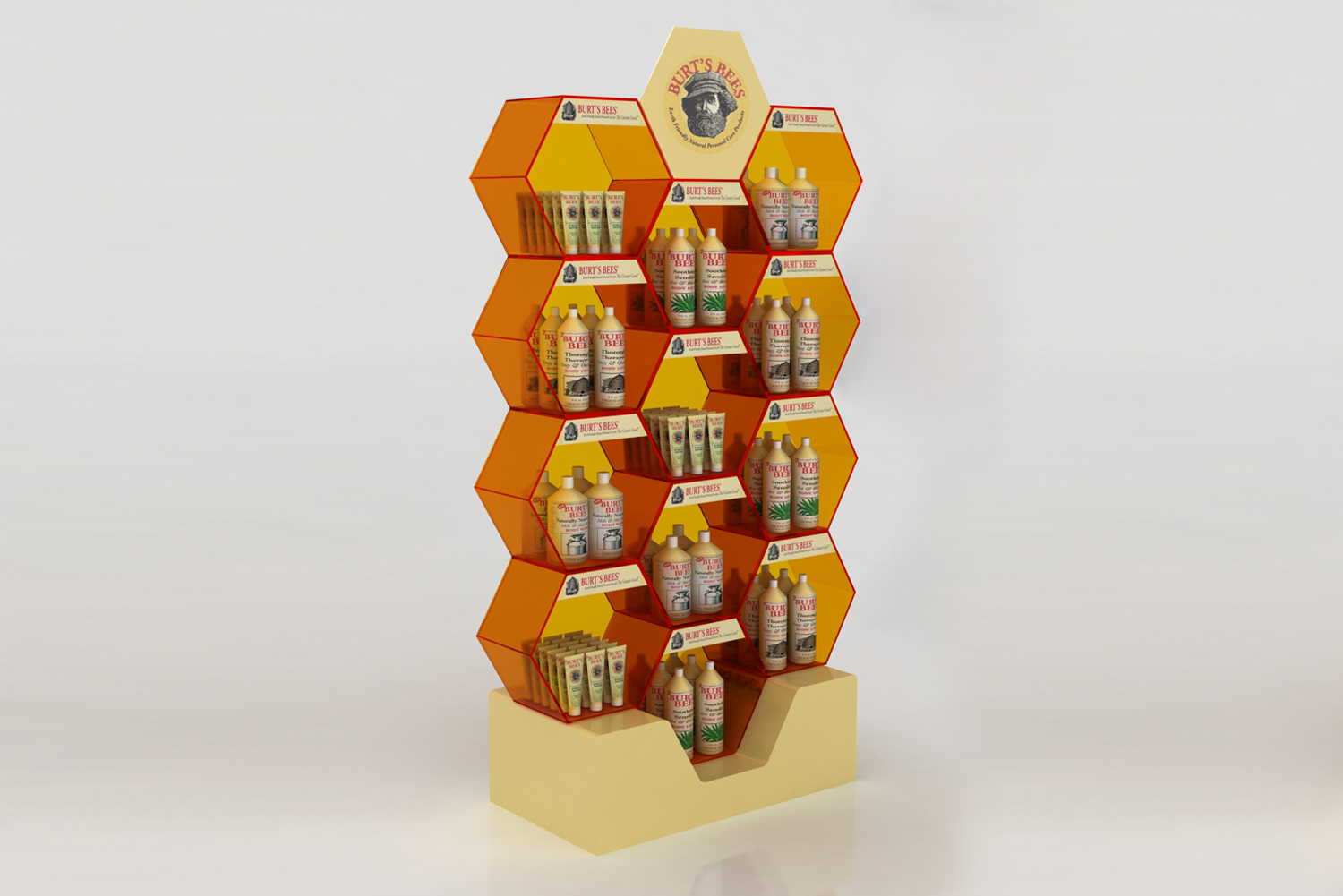Burt's Bees - Custom Point of Purchase Plastic Displays