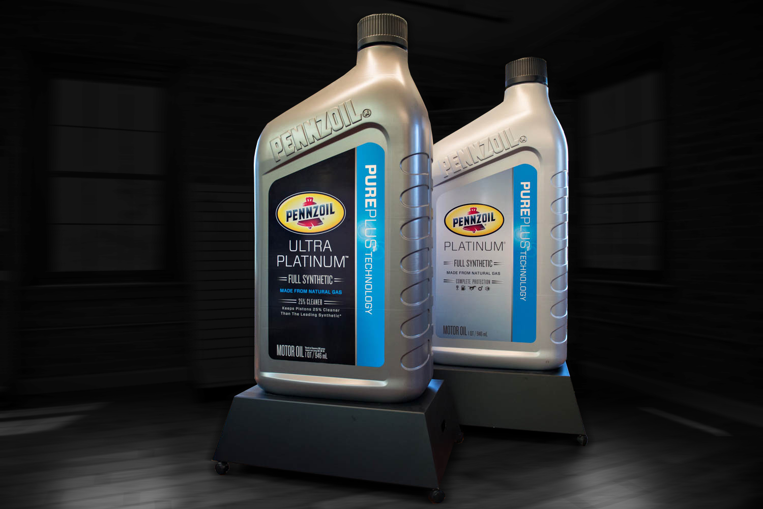 Displays for Pennzoil