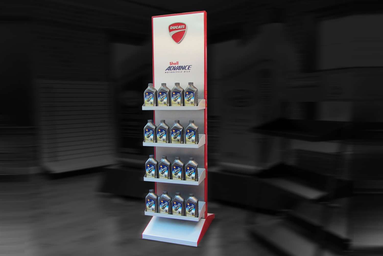 ducati point of purchase display by metaline