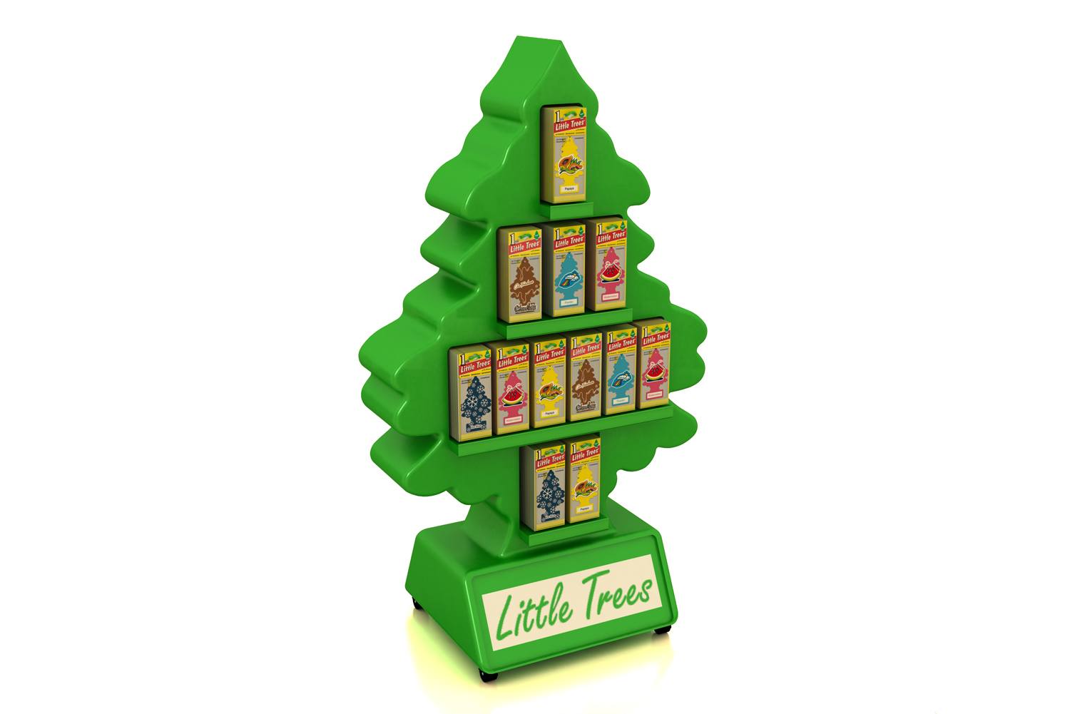 Custom Plastic Point of Purchase Displays for Little Trees